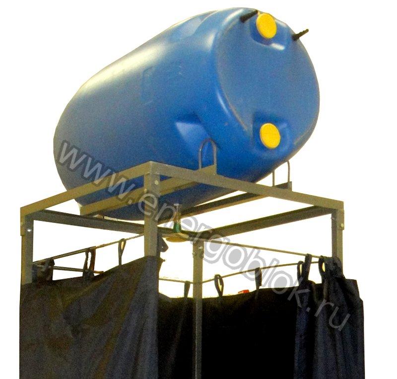 Летний душ из пластиковой бочки своими руками
